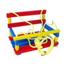 Dětská houpačka TEDDIES dřevěná barevná
