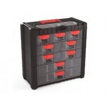 Organizér přenosný/závěsný 10 přihrádek TES PPNS401-R444