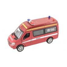 Dětské hasičské auto TEDDIES se světlem a zvukem 15 cm