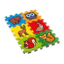 Dětské puzzle TEDDIES Moje první lesní zvířátka pěnové 6ks