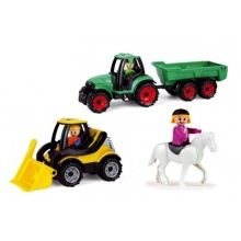 Dětský traktor s bagrem LENA TRUCKIES