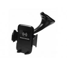 Držák do auta GSM0948 s bezdrátovým nabíjením černý