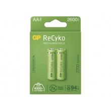 Baterie AA (R6) nabíjecí 1,2V/2600mAh GP Recyko  2ks