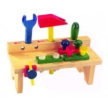 Dětský stůl s nářadím DETOA dřevěný 8ks