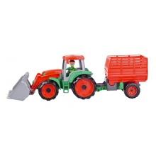 Dětský traktor s přívěsem LENA TRUXX 53 cm