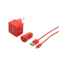 Nabíječka SCO 516-000RD USB KIT 1M/WALL/CAR SENCOR