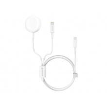 Nabíječka SWISSTEN WIRELESS 2v1 IWATCH A LIGHTNING - USB-C bezdrátová