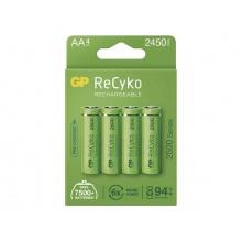 Baterie AA (R6) nabíjecí 1,2V/2450mAh GP Recyko  4ks
