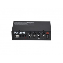 Zesilovač SHOW PA-20M, 20W/4Ω, přehrávač MP3