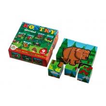 Dětské kostky TEDDIES Moje první lesní zvířátka dřevěné 9ks