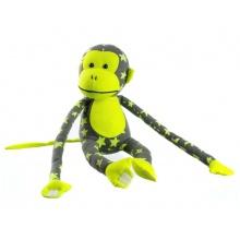 Dětská plyšová opička TEDDIES 45 cm svítící ve tmě žlutá