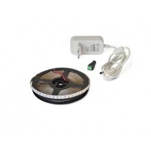 LED pásek sada 2,5m 12V 3528 120LED/m IP65 9.6W/m bílá teplá extra, gold +zdroj
