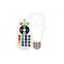 Žárovka LED V-TAC E27  6W A60 bílá teplá RGB