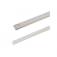 AL profil AS1 nový pro LED pásky, k přisazení, s plexi, 2m
