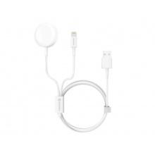 Nabíječka SWISSTEN WIRELESS 2v1 IWATCH A LIGHTNING - USB bezdrátová
