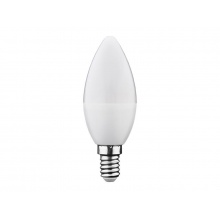 Žárovka LED E14  6W C37 bílá teplá Geti SAMSUNG čip
