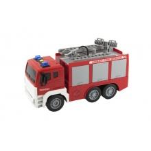 Dětské hasičské auto na setrvačník TEDDIES se zvukem a světlem 32 cm