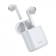 Sluchátka Bluetooth BASEUS TWS W09 bílé