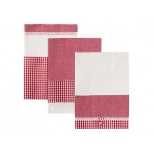 Utěrka ORION Dot Gifty bavlna 3ks červená