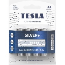 1099137214 Tesla - SILVER Alkaline baterie AA (LR06, tužková, blister) 4 ks