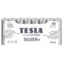1099137213 Tesla - SILVER Alkaline baterie AA (LR06, tužková, shrink) 24 ks