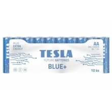 1099137198 Tesla - BLUE Zinc Carbon baterie AA (R06, tužková, shrink) 10 ks