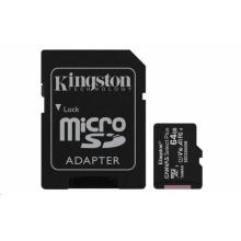 SDCS2/64GB Kingston - paměťová karta 64GB Micro SDXC Canvas Select Plus 100R A1 C10 Card + SD adaptér
