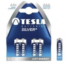 1099137070 Tesla - SILVER+ Alkaline baterie AAA (LR03, mikrotužková, paper) 4 ks