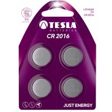 1099137154 Tesla - CR 2016 Lithium baterie 3V, BLISTER/4ks