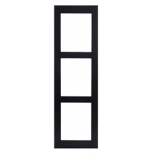 ATEUS-9155023B 2N® IP Verso, rámeček pro instalaci na povrch, 3 moduly, černý