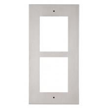 ATEUS-9155012 2N® IP Verso, rámeček pro instalaci do zdi, 2 moduly, nikl