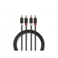 Kabel NEDIS 2x CINCH konektor - 2x CINCH konektor 2m