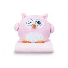 Sovička DORMEO EMOTION OWL NAUGHTY růžová 3v1