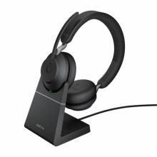 EVOLVE2-65-STEREO-A-MS-STAND Jabra - bezdrátová náhlavní souprava pro PC, Bluetooth, USB, NFC, přes hlavu, na obě uši+stojánek