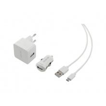 Nabíječka SCO 516-000WH USB KIT 1M/WALL/CAR SENCOR