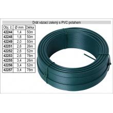 Drát napínací s PVC potahem 1,8mm délka 50m