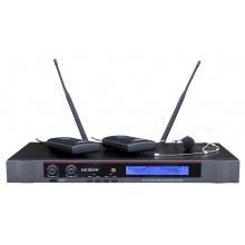 DEXON Bezdrátový mikrofon náhlavní / klopový, 2kanálový do racku MBD 932