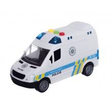 Dětská policejní dodávka na setrvačník TEDDIES se zvukem a světlem 15 cm