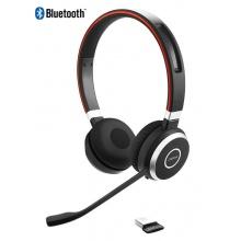 EVOLVE-65-STEREO Jabra - bezdrátová náhlavní souprava pro PC, Bluetooth, USB, NFC, spona přes hlavu, na obě uši