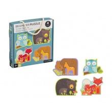Dětské puzzle PETITCOLLAGE Lesní zvířátka dřevěné