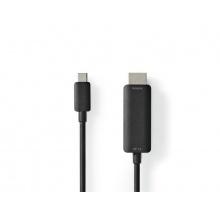 Adaptér NEDIS CCGP64655BK20 USB C na port HDMI