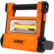 VERKE PREMIUM Aku světlo, reflektor přenosný COB LED 20W/2000lm, 4,4Ah V87531