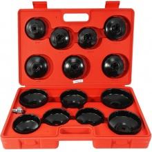 DEGET Miskové klíče na olejové filtry, sada 15ks V86210