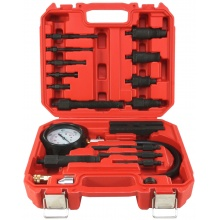 VERKE Kompresiometr, sada pro měření komprese dieselových motorů 16ks V86258