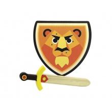 Dětský štít a meč VILAC Lev dřevěný