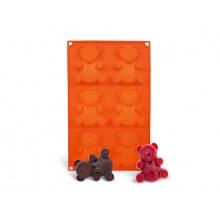 Forma na pečení ORION Medvidci 6 silikon oranžová