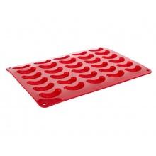 Forma na pečení BANQUET Culinaria Rohlíčky silikon červená