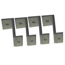 HANG-KITS-ZS4 Montážní sada pro LED panely - úchyty ve tvaru Z, 4 ks v balení