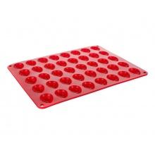 Forma na pečení BANQUET Culinaria Ořechy silikon červená