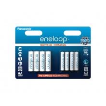 Baterie AAA (R03) + AA (R6) nabíjecí 1,2V/750mAh/1900mAh Eneloop PANASONIC 8ks sada